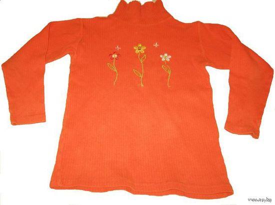 Оранжевый гольф 7-8 лет