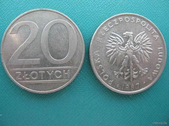 Польша 20 злотых 1987г. распродажа