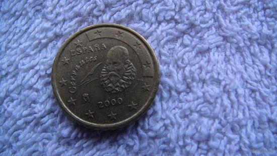 Испания 10 евроцентов 2000г.  распродажа