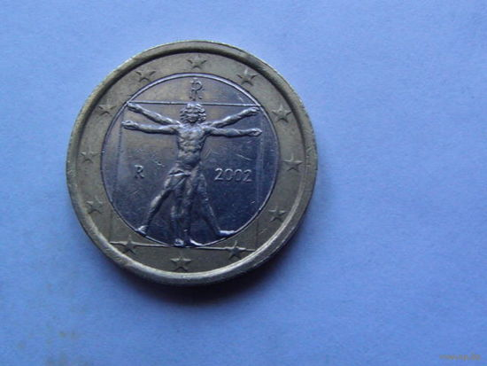 Италия 1 евро 2002г.  распродажа