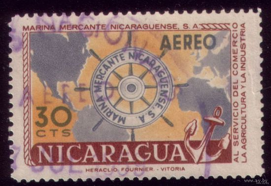 1 марка 1957 год Никарагуа
