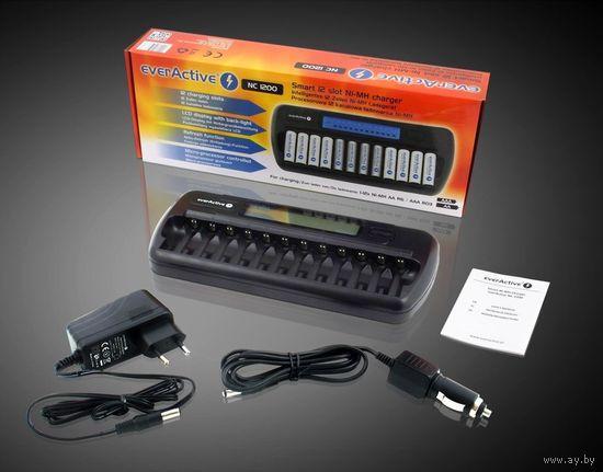 Зарядное устройство EverActive NC-1200 - на 12 АКБ
