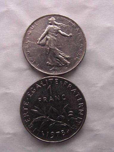 1 франк франции 1978г. распродажа