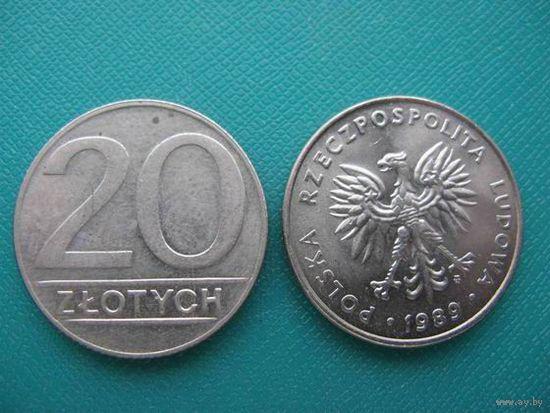 Польша 20 злотых 1990г.  распродажа