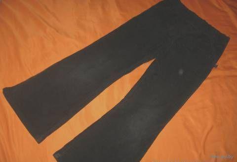 Вельветовые школьные зимние черные брюки, 6-7 лет