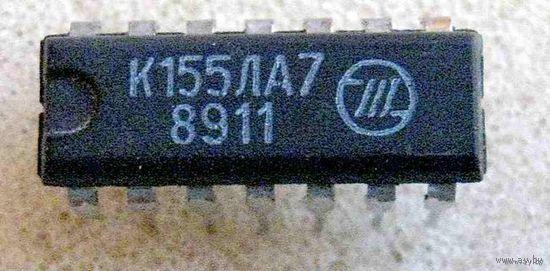 Два логических элемента 4И-НЕ с открытым коллекторным выходом и большим коэффициентом разветвления по выходу К155ЛА7