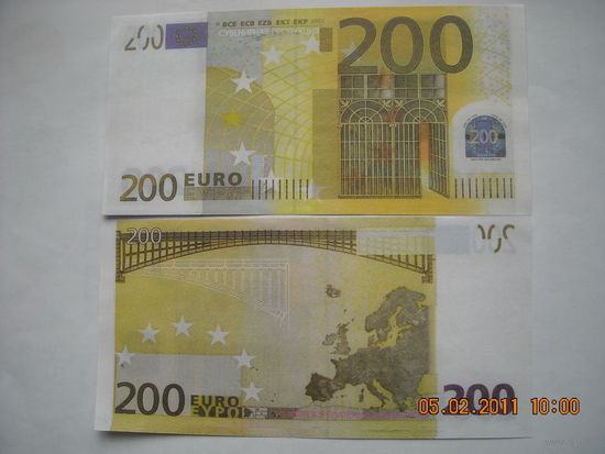 200 Евро ( сувенир, подарок ) пресс   распродажа