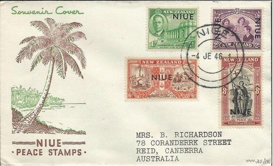 Британские колонии. НИУЕ. Пoлная серия на FDC 1946