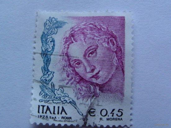 Италия марка 0.45 евро.  распродажа