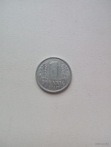 1 пфеннинг 1988г. ГДР