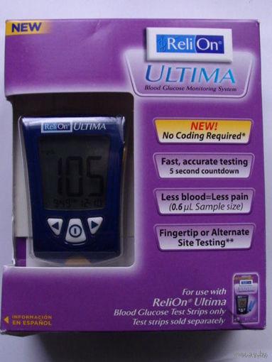 """Глюкометр аппарат для проверки уровня глюкозы в крови """"Reli On ULTIMA"""" + 3 упаковки полосок. распродажа"""