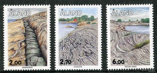 Аланд. Ландшафт острова. (серия 3 марки).