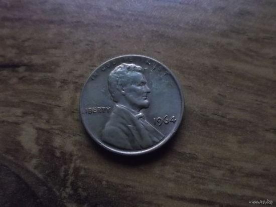 США 1 cent 1964