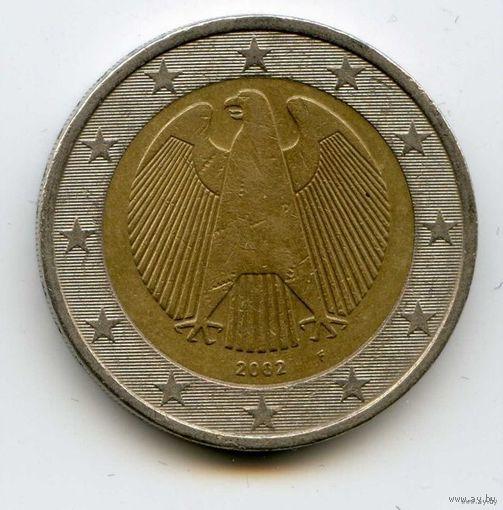 Германия 2 евро 2002г. F БИМЕТАЛЛ   распродажа