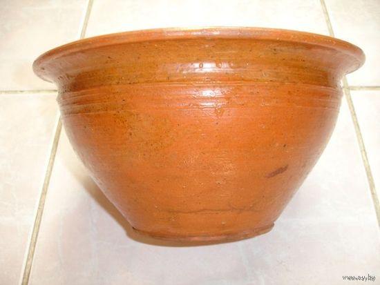 Большая глиняная ваза деревенская 50-е года