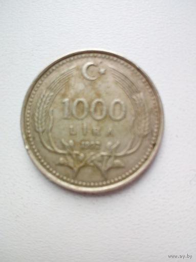 1000 лир 1992г. Турция