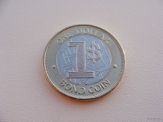 Зимбабве. 1 доллар 2016 год  UC#1