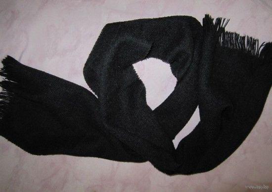 Шарф шерстяной мягкий, темно-серого цвета