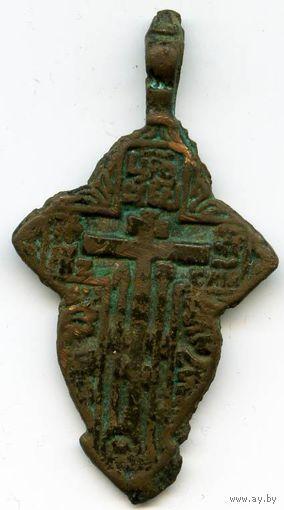 Ромбовидный нательный крест XVI XVII