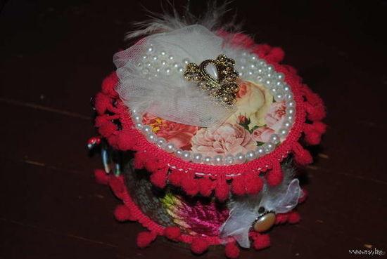 """Шкатулка для подарка ювелирных украшений Любимой ДАМЕ Вашего Сердца:_""""Мадам де Помпадур""""_ручной работы_только в ед./экз._повтор не возможен_Имеется в НАЛИЧИИ_!"""