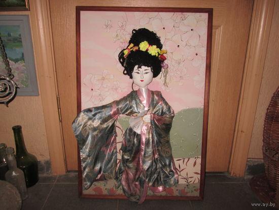 Картина (кукла)объемная гейша