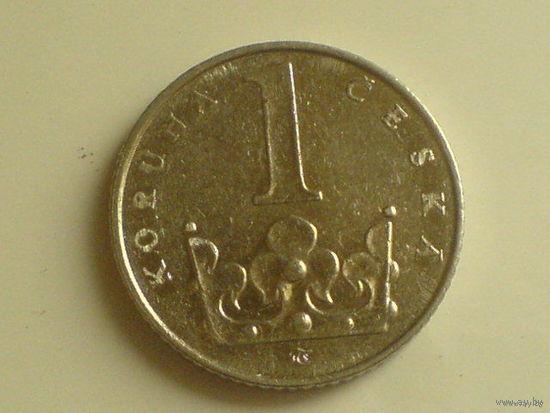 1 крона 1993 Чехия    распродажа