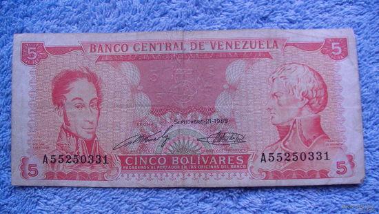 Банкнота Венесуэла  боливаров 1989г распродажа