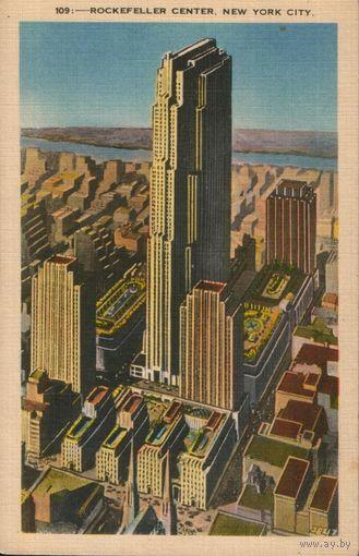 "Открытка ""Нью-Йорк. Здание Рокфеллер центр""."