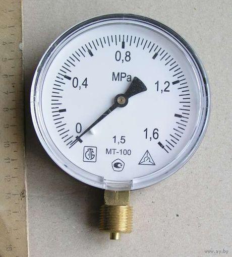 Манометр МТ-100 на 1,6 МРа