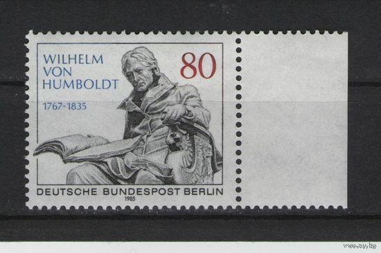 Западный Берлин 1985г. Mi N 731** 150 лет со дня смерти Вильгельма Гумбольта