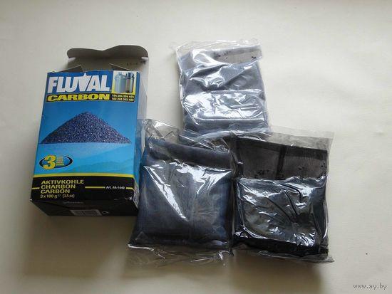 Активированный уголь Fluval Carbon, 3*100гр (1)