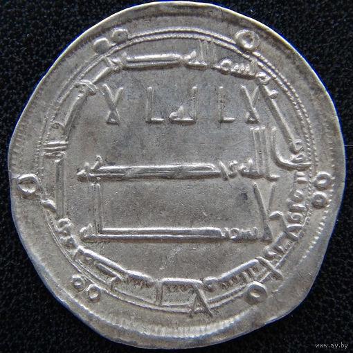 YS: Аббасиды, Абу-Джафар аль-Мансур, 1 дирхам 154 AH (771), Багдад, серебро, 2,96 гр, 26 мм