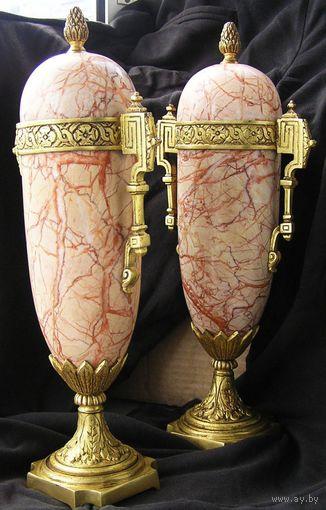 Две каминные вазы Ампир XIX Россия