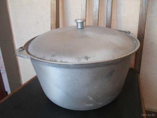 Казан с крышкой 6 л. Толстостенный алюминий,не использовался.