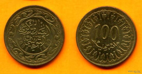 Тунис 100 МИЛЛИМ 2008г.  распродажа