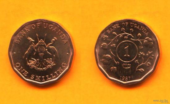 Уганда 1 ШИЛЛИНГ 1987 UNC  распродажа