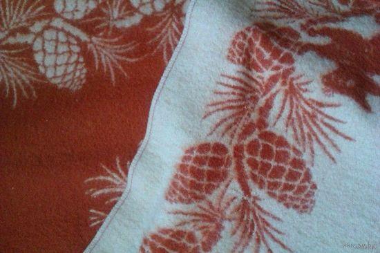 Одеяло детское шерстяное теплое 100 см х 150 см. Белый пододеяльничек на одеяльце в подарок!