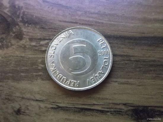 Словения 5 толларов 2000
