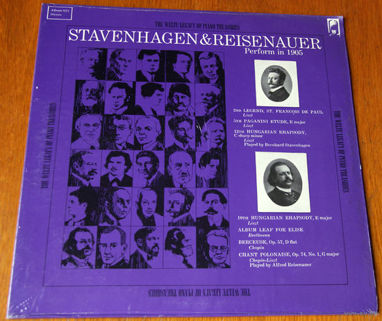 Stavenhagen & Reisenauer. Perform in 1905, LP 1968