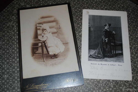 """Сборная серия из старинного фото + старой фотооткрытки: """"Детские платья"""" - моя коллекция до 1917 года - антикварная редкость - цена за всё, что на фото, по отдельности пока не продаю-!"""