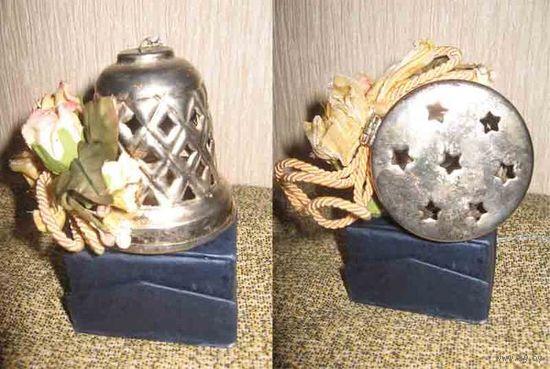 Колокол-шкатулка, серебрение, начало-середина 20 века, Италия.