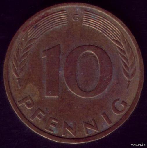 10  пфеннигов 1982 год ФРГ G