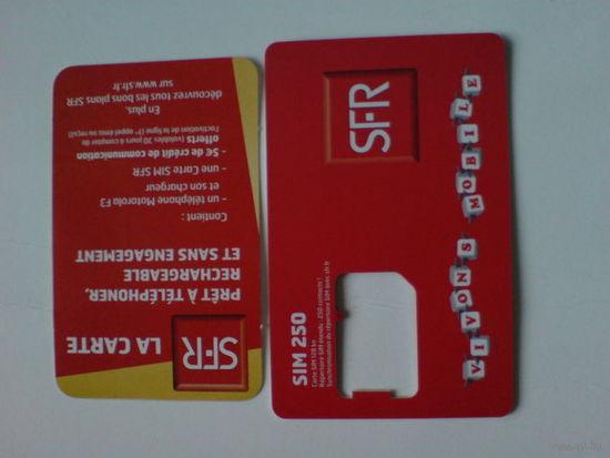 Телефонная карта SFR франция.  распродажа