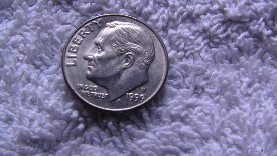 США 10 центов 1999г P.  распродажа