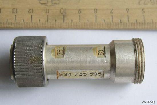 Переходник для приборных кабелей для согласования волнового сопротивления с 50 Ом на 75 Ом