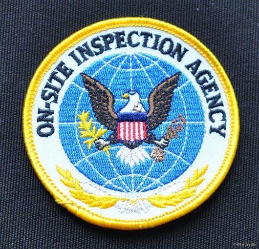 "Нашивка ""Агентство инспекций на местах США"""