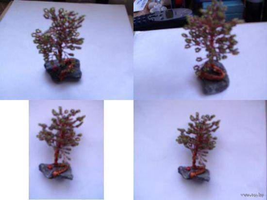 Дерево из проволки и бисера.  распродажа