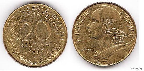 Франция 20 сантимов 1997г. распродажа
