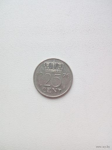 25 центов 1976г. Нидерланды