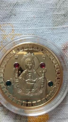 Монета 50 руб. 2008г. с изображением иконы и с цветными камнями. 6.  распродажа